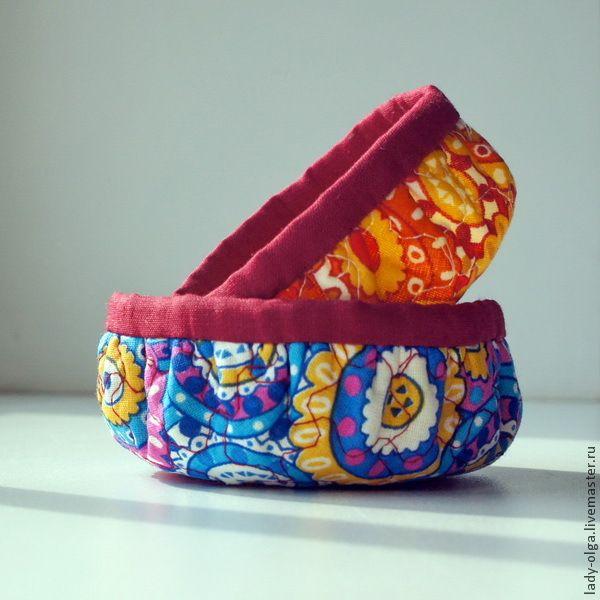 Шьем круглые корзиночки — быстро, легко, удобно - Ярмарка Мастеров - ручная работа, handmade
