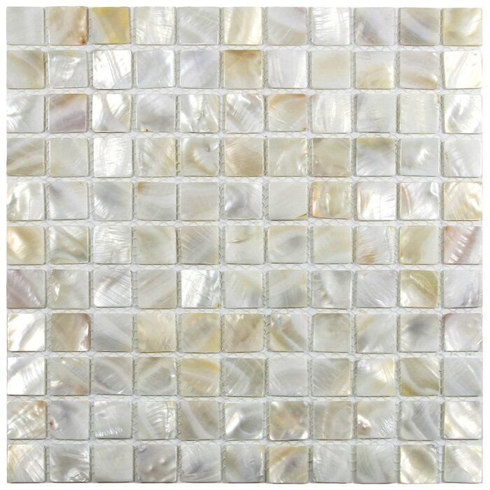 Atlantic 1 X 1 Seashell Mosaic Tile In Cream In 2021 Pearl Tile Shell Tiles Mosaic Tiles