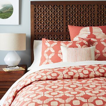 Awesome! Love it all! The one babe?------ Ikat Tile Duvet Cover + Shams - Cherry Cola #westelm