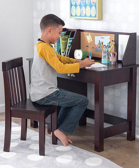 Kidkraft Espresso Three Piece Study Desk Amp Chair Set