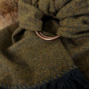 Custom for Carina: Midgaard Ask Ring Sling, 100% handwoven wool w. Fringe