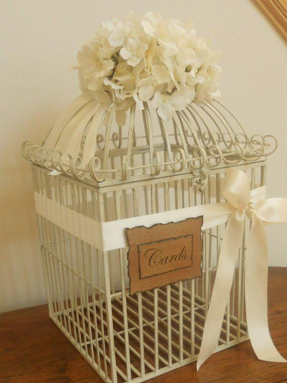 Birdcage/Wedding Card Holder Extra Large Gorgeous by YesMoreFunk, $95.00