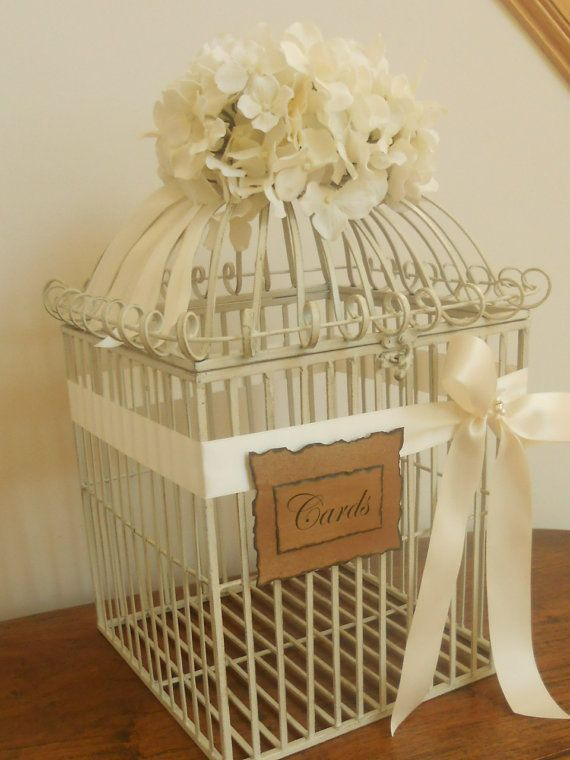 Birdcage/Wedding Card Holder Extra Large Gorgeous by YesMoreFunk, $95.00