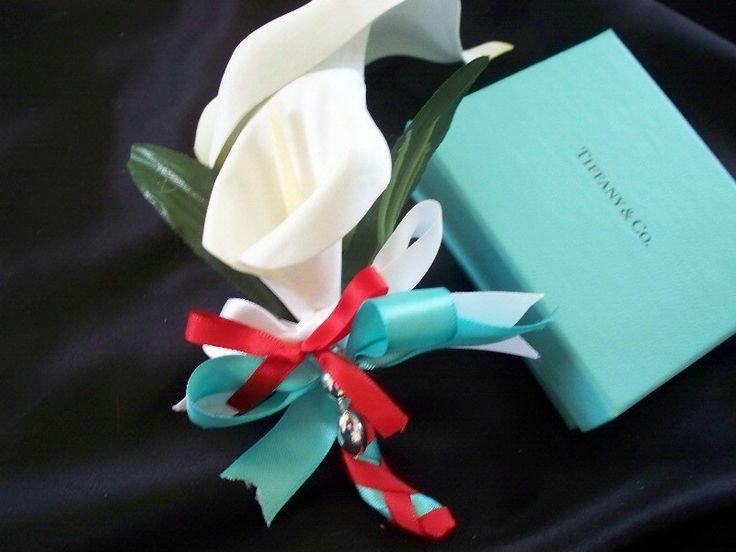 Tiffany Blue Boutonniere