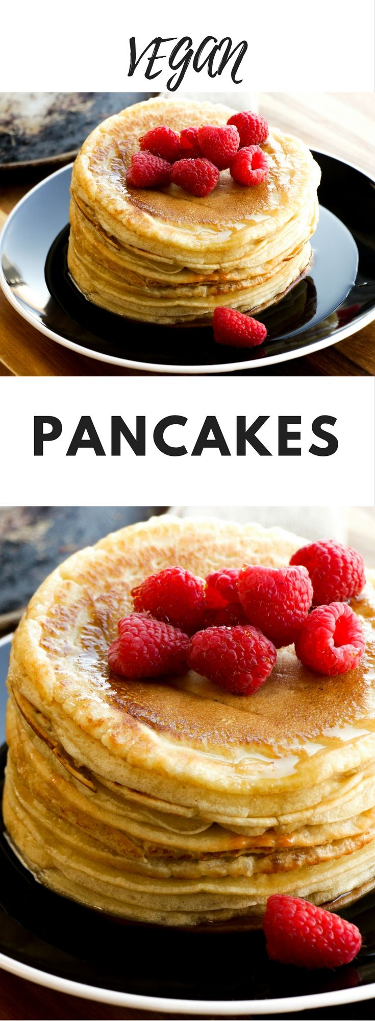 Vegan Pancakes - I've been working hard developing a vegan pancake recipe that is not only as good as traditional pancakes, but even better. Voilà! This egg-free, dairy-free pancake mix is so good that everyone will ask for more. Here is another wounderful breakfast idea: tofu scramble !