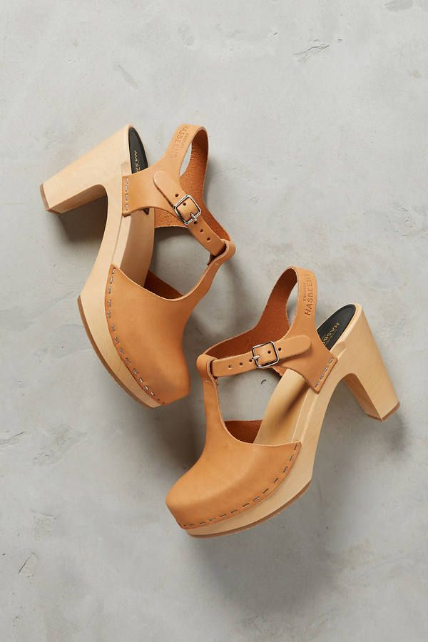 Swedish Hasbeens T-Strap Platform Clogs #AnthroFave