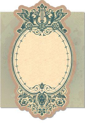 Ornate Vintage Label / Frame ~ Violeta lilás Vintage