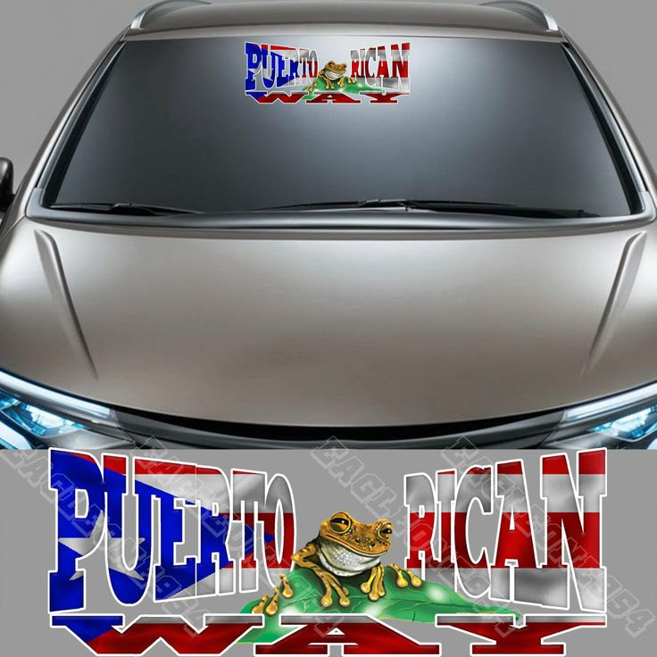 puerto rican flag for car