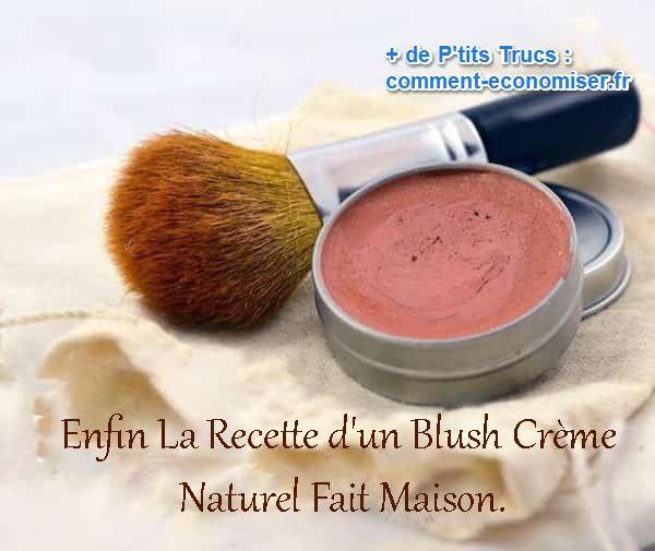 L'avantage d'un blush crème par rapport à un blush en poudre, c'est qu'il tient bien plus longtemps. Il est aussi plus polyvalent ce qui permet de faire plus de choses avec :-)  Découvrez l'astuce ici : http://www.comment-economiser.fr/recette-blush-creme-fait-misn.html?utm_content=bufferac273&utm_medium=social&utm_source=pinterest.com&utm_campaign=buffer