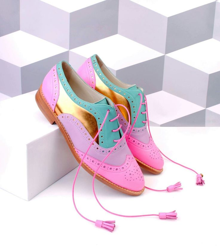 ABO multicolor point toe brogues! Check out out web shop www.abo-shoes.com, we ship worldwide! #abo #ABO #abo-shoes #shoes #brogues #original #oxfords #fashion #style #streetstyle #belgrade #AnaLjubinkovic #shop #pointtoe #color #multicolor #pink