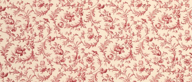 Ironwork Scroll Cranberry Cotton Fabric at Laura Ashley