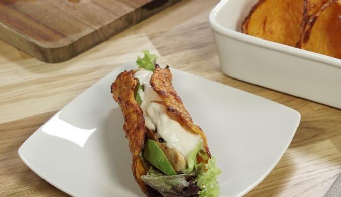 Diese Taco Shells kommen mit wenig Kohlenhydrate aus, bringen aber mit Geschmack mit. Probiere es aus, auf www.maggi.de.