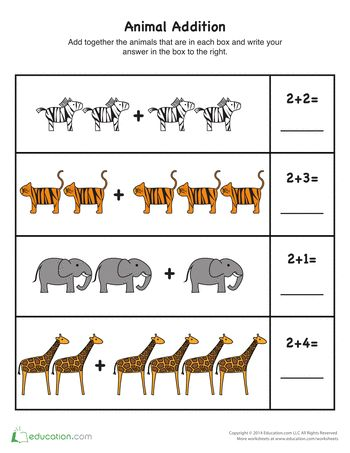 Print out these worksheets to give your kindergarten students some quick one-digit addition practice!