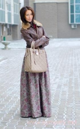 Как сшить длинную юбку зимнюю
