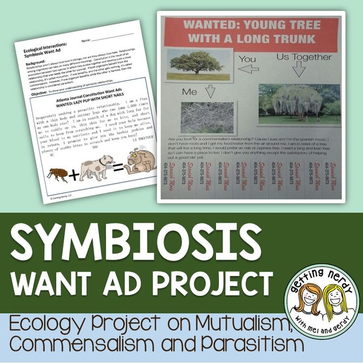 32 best symbiotic relationships images on pinterest ecology reinforce symbiotic relationships of mutualism commensalism and parasitism with this want ad project fandeluxe Gallery
