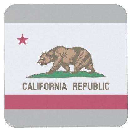 #California Republic flag paper drink coasters - customized designs custom gift ideas