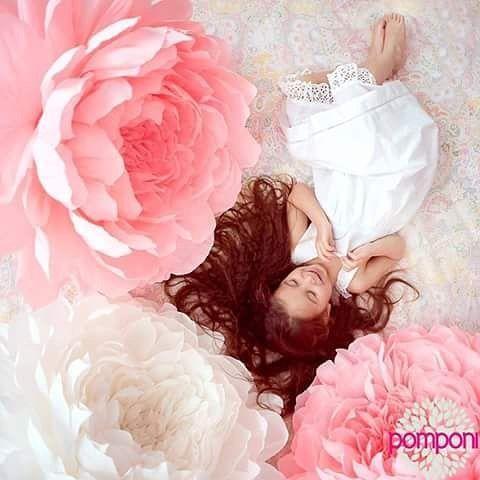 "47 Likes, 1 Comments - pomponi.com.ua (@pomponi_decor) on Instagram: ""Маленькая принцесса глазами @lenkazibareva ...девочки такие девочки)))) Бумажные пионы by…"""