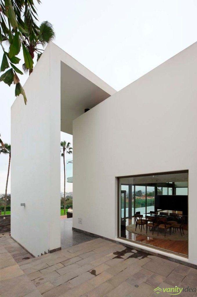 exterior white walls design