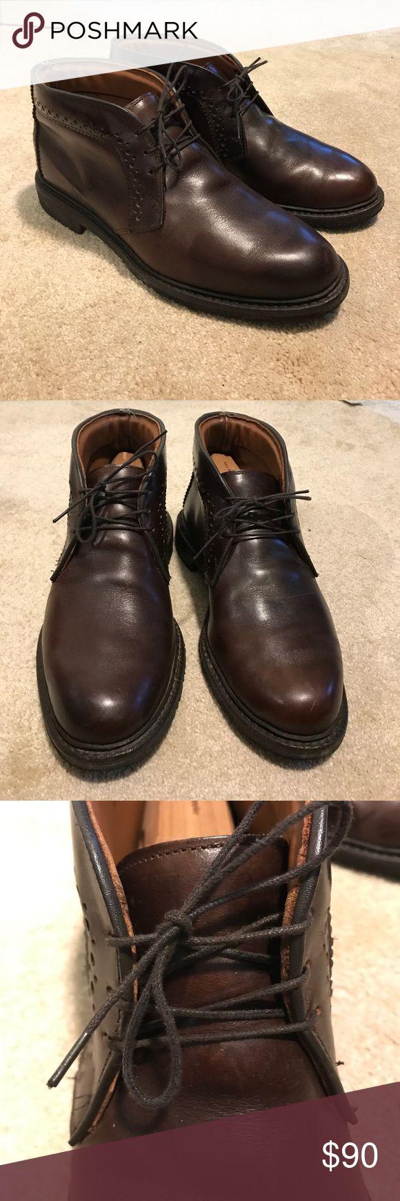 Allen Edmonds Chukka Boot Men's Brown Leather Brown leather men's Allen Edmonds Chukka boot in great condition Allen Edmonds Shoes Chukka Boots