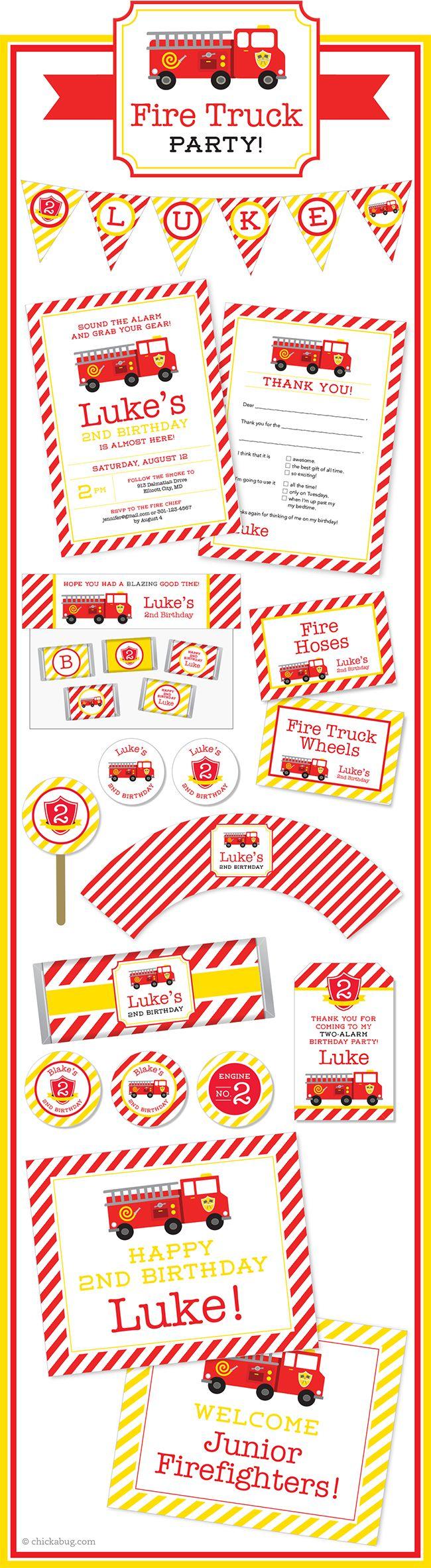 36 best Fire Truck Party images on Pinterest Fire truck Firetruck