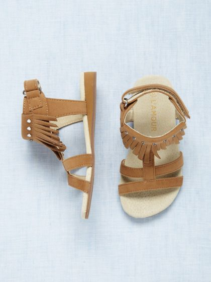 L'Amour & Angel Girls' Fringe Sandal
