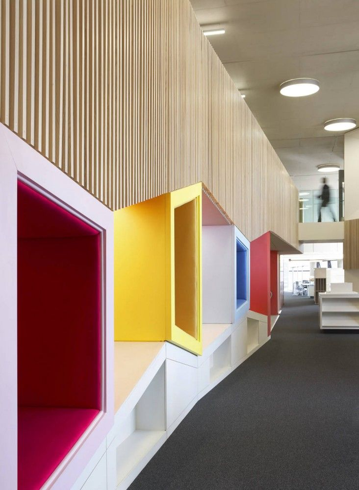 design intérieur commercial - ludique et vivant - School Design | Educational Spaces |