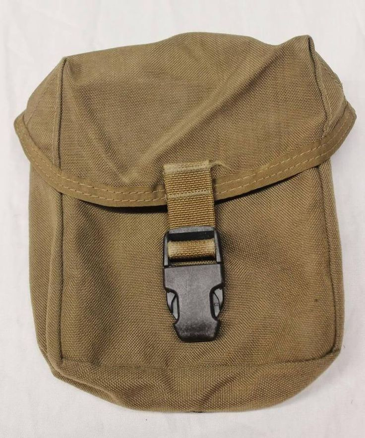 USMC Individual First Aid Kit Pouch Coyote Brown USGI Military Surplus Good Cond