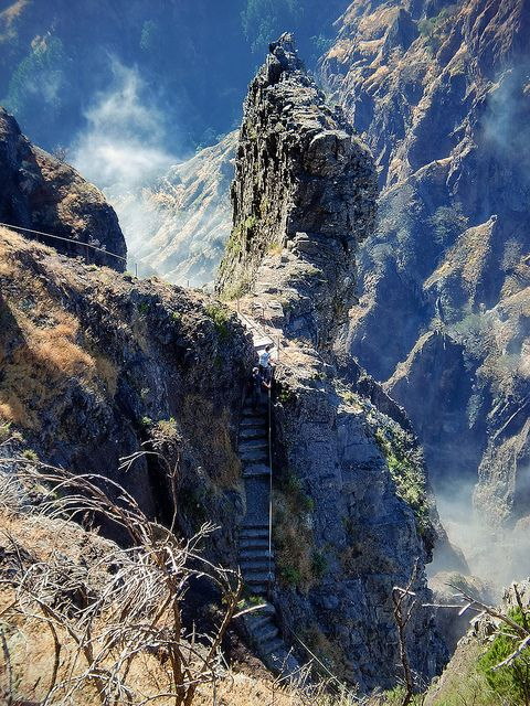 Stairways - Pico do Arieiro, Madeira Island (Portugal). Chickened out on this walk...sooo windy that I could not stand straight!
