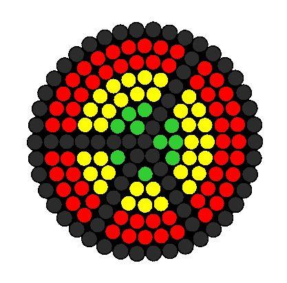 Rasta Peace Sign Perler Bead Pattern / Bead Sprite