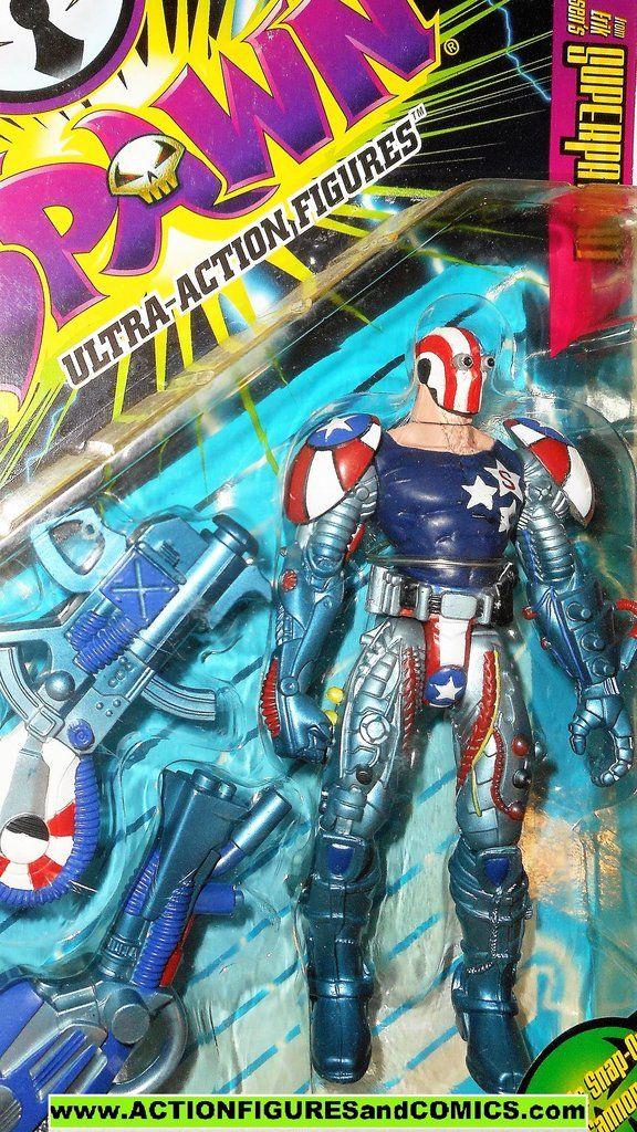 Vintage Spawn Super Patriot Action Figure Complete McFarlane Toys 1996
