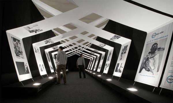 Modern Exhibition Booth : Exhibition swag beautiful use of modern draped panels to