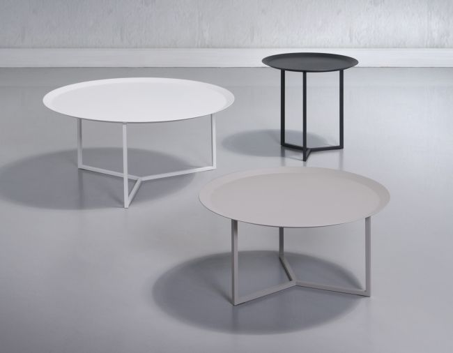 sitting room option: trica tam tam tables - large grey, small grey, small black