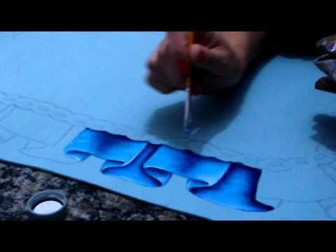 Pintura em emborrachado - YouTube