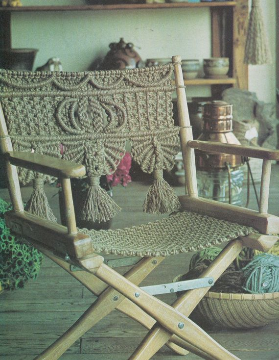 The 25 best macrame chairs ideas on pinterest macrame for Macrame hammock chair pattern