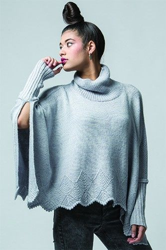 Mofu Poncho Knitting Pattern | InterweaveStore.com
