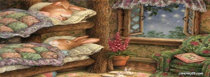 Bunny Bedtime Facebook Covers, Bunny Bedtime FB Covers, Bunny Bedtime Facebook Timeline Covers, Bunny Bedtime Facebook Cover Images
