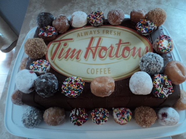 Tim Horton Coffee Cake - Uploaded by an Inkedibles customer into an inkedibles.com competition for cakes made using Inkedibles products (May 2013)