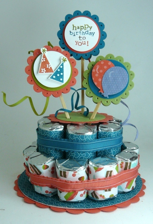 Mit Keksrollen ein toller Geburtstagskuchen für unterwegs