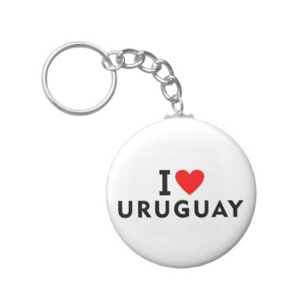 I love Uruguay country like heart travel tourism Keychain - personalize gift idea special custom diy or cyo