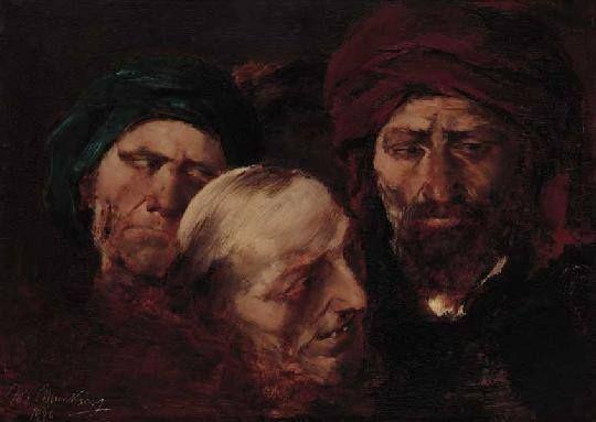 Munkácsy Mihály (1844-1900) - Tanulmányfejek.