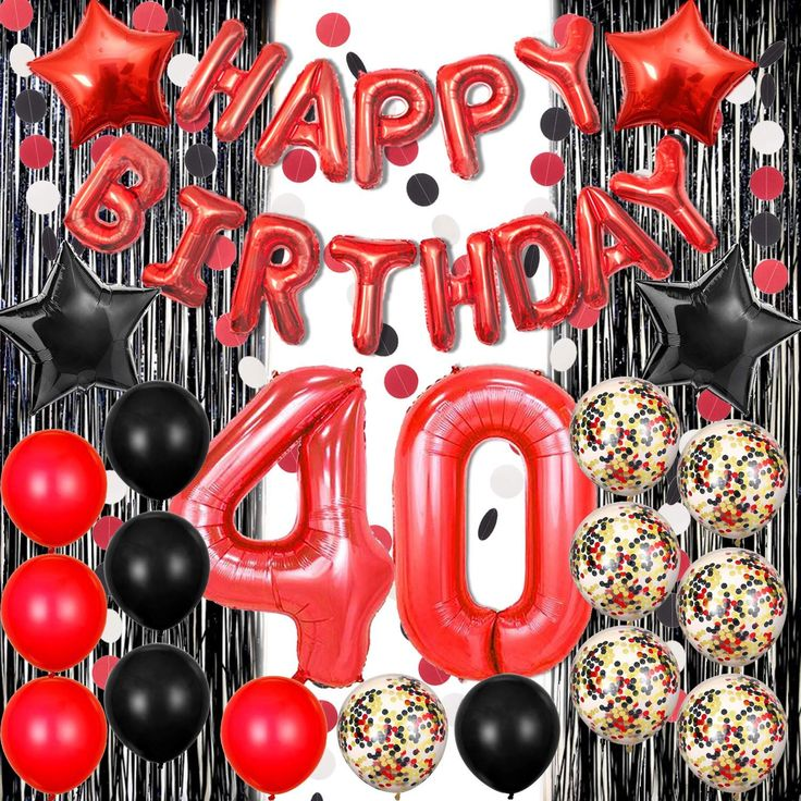 40th Birthday Decoration Ideas Inspirational Black and Red