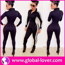 2015 top quality bodycon black zipper sport jumpsuit women Best Seller follow this link http://shopingayo.space