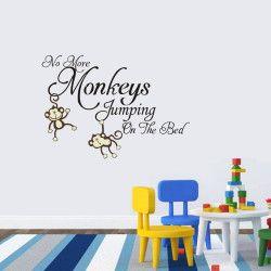 No more monkeys jumping!  No more monkeys jumping on the bed! Passa på och fynda detta unika väggdekor med apor och ge väggarna ett helt nytt lyster!  Länk till produkt: http://www.feelhome.se/produkt/no-more-monkeys-jumping/  #Homedecoration #art #interior #design #Walldecor #väggdekor #interiordesign #Vardagsrum #Modernt #vägg #inredning #inredningstips #heminredning #apa #djur #djungel #natur #citat #barn #barnrum #barninredning