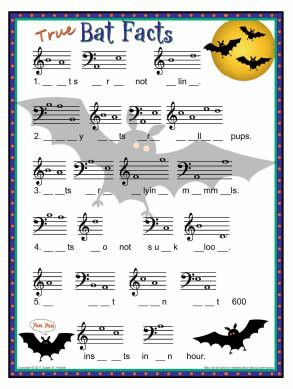 BatFacts. Halloween Music Name that Note Story.