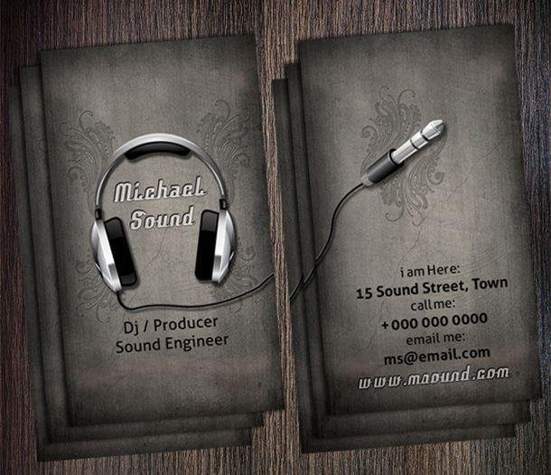 Best 20 DJ business cards images on Pinterest Dj business cards