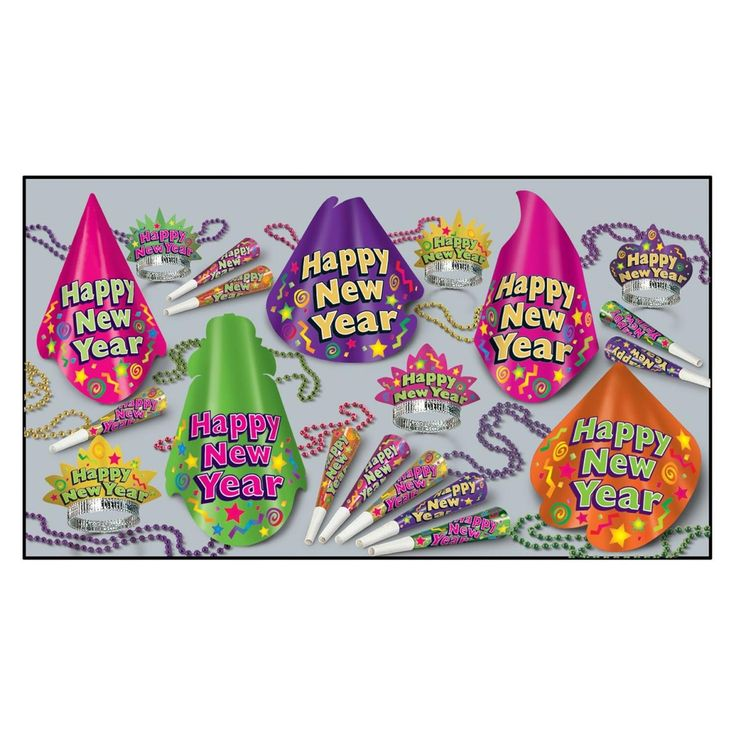 The Color-Brite Party Kit For 10 People For New Year's Eve, Green