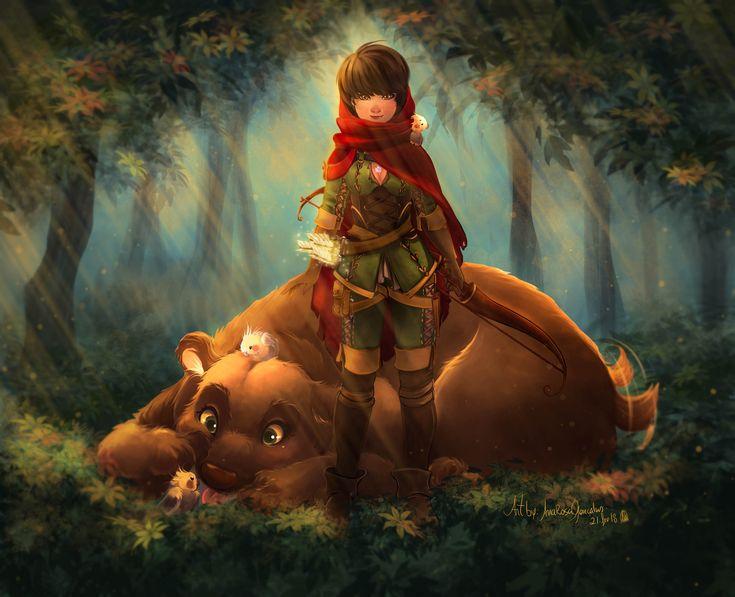 The Protector of the Woods, Ana Rosa Gonçalves on ArtStation at https://www.artstation.com/artwork/glbJG