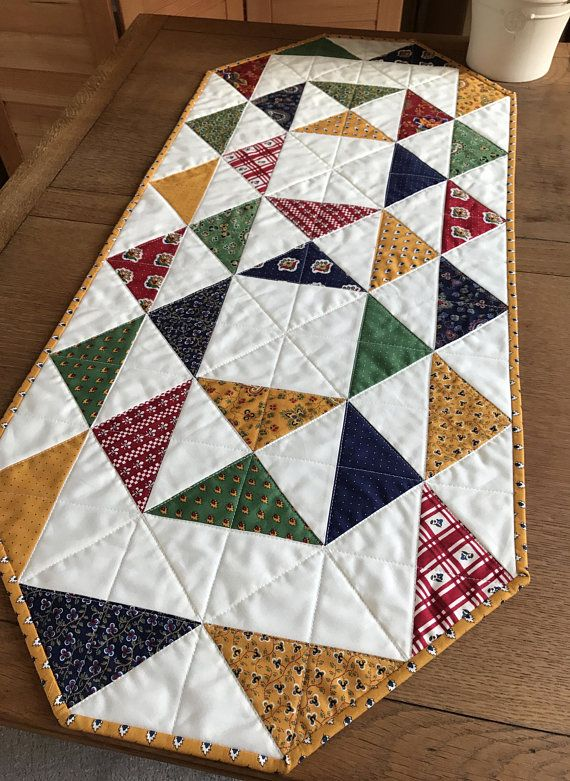 Quilted Table Runner, French Country Decor