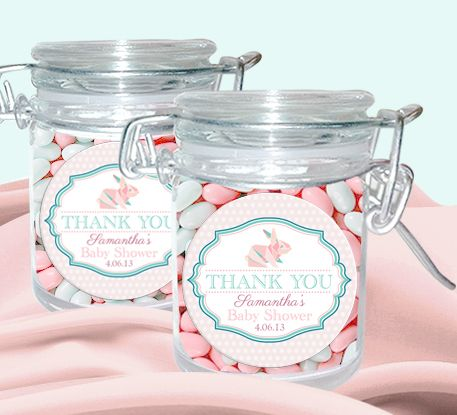 Baby Bunny Personalised Candy Jars (Set of 12)