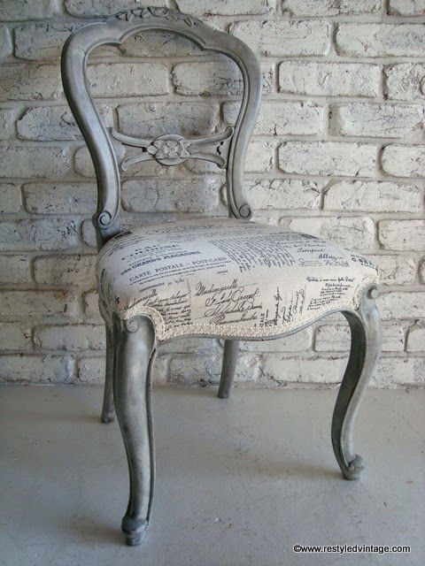 Great instructions on how to paint this chair